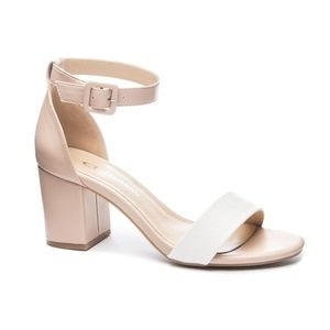 ALL IN block heel nude sandal